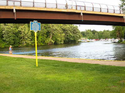 Gravitating naturally to the waterfront, I found this entrance to the Erie Canal