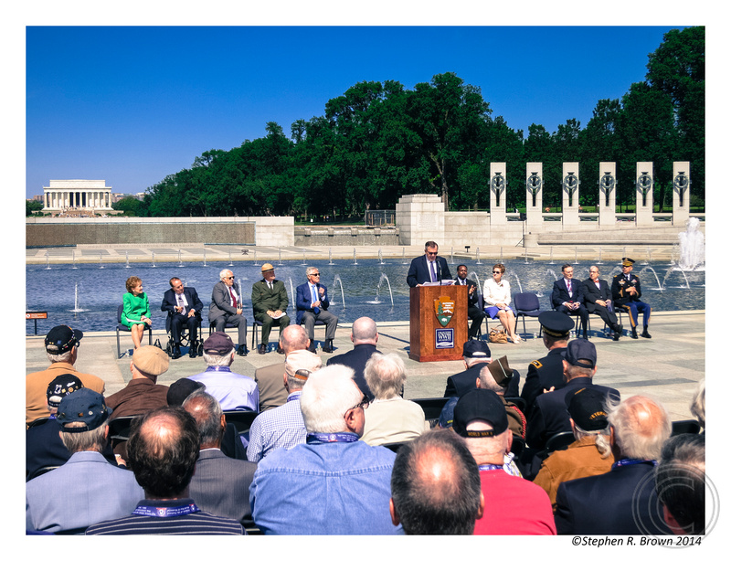STEPHEN R. BROWN PHOTOGRAPHY: WWII MEMORIAL:  May 24, 2014, Tenth Anniversary &emdash; Stephen R. Brown Photo